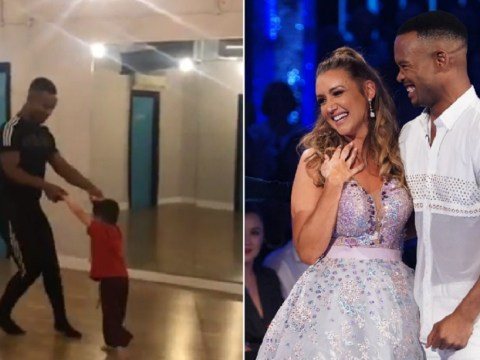 Catherine Tyldesley has some stiff Strictly competition from four-year-old son