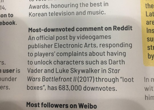 Battlefront II gets Guinness World Record for… most hated