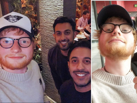 Ed Sheeran stops by local curry house with Shane Warne after watching cricket because he's a top lad