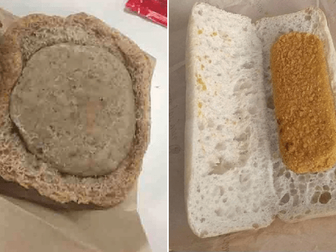 Disgusted dad pulls sons from school dinners over 'gross' burger