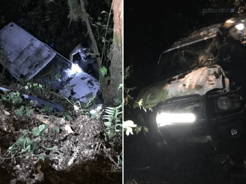'Drink driver' blamed squirrel in the road for crashing off cliff