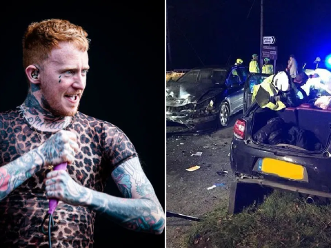 Frank Carter 'lucky to be alive' after serious car accident and postpones dates with The Rattlesnakes