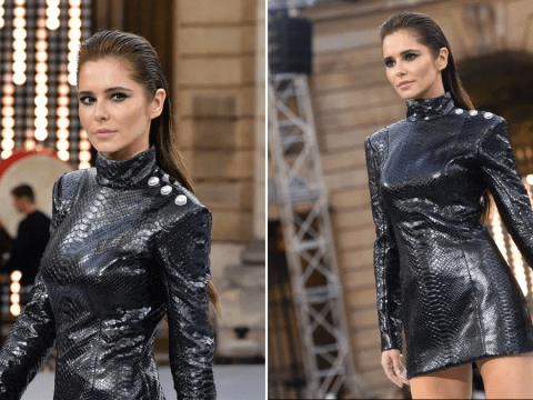 Cheryl slays at Paris Fashion Week on her return to the runway for L'Oreal