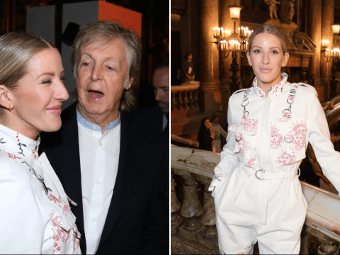 Ellie Goulding gets chummy with Sir Paul McCartney during stylish Paris Fashion Week appearance