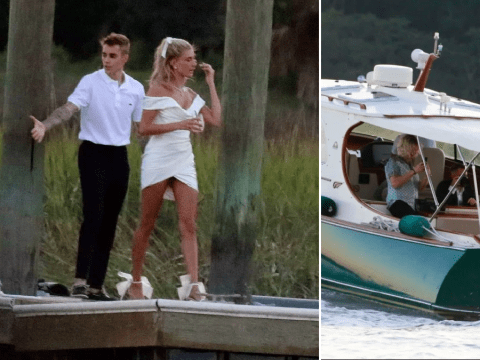 Hailey Baldwin is already a blushing bride as she goes all out for pre-wedding party with Justin Bieber