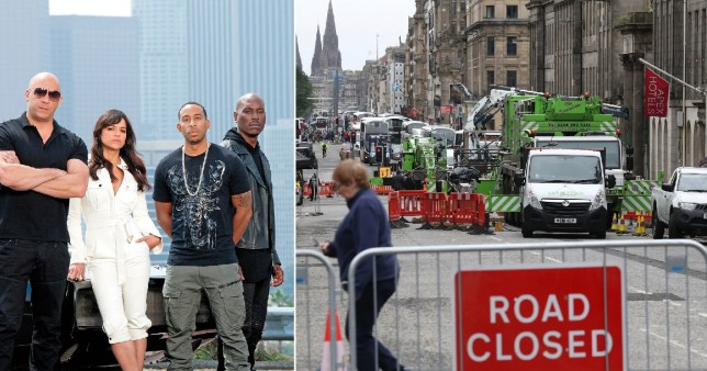 Fast & Furious 9 shuts down Edinburgh