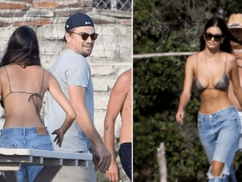 Leonardo DiCaprio and girlfriend Camila Morrone get competitive with beach volleyball game