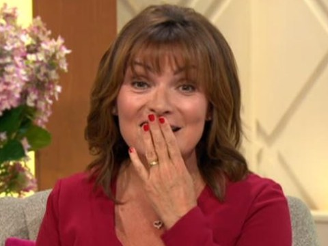 Lorraine Kelly narrowly avoids X-rated blunder as mysterious voice crashes interview