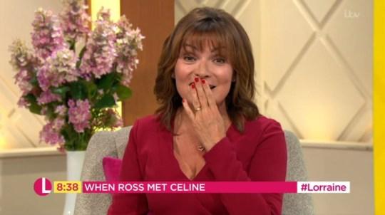Lorraine nearly dropped a doozy