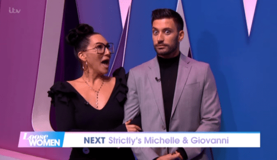 Michelle Visage and GiovanniPernice on Loose Women