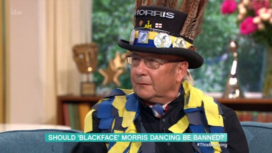 Morris dancer on This Morning