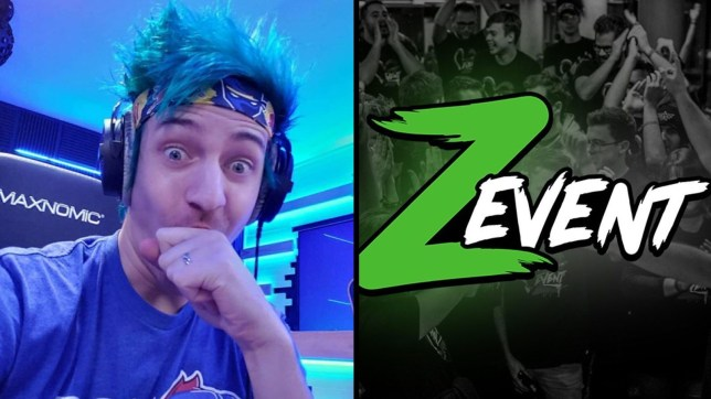 Streamer Ninja next to the Z Event for which he donated a lot of money to help charity