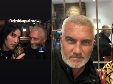 Great British Bake Off judge Paul Hollywood enjoys night on the lash with Noel Fielding