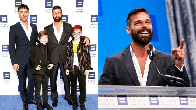 Ricky Martin and his husband Jwan Yosef with their twin boys, Matteo and Valentino
