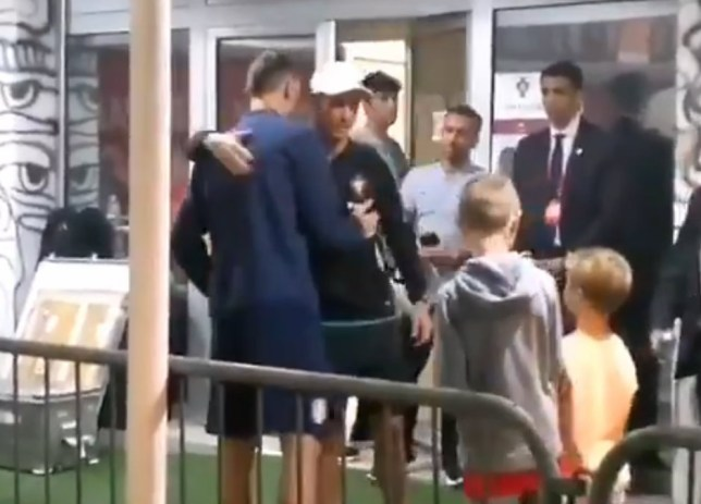 Man Utd ace Nemanja Matic waited with his kids after Serbia's defeat to Portugal for Cristiano Ronaldo