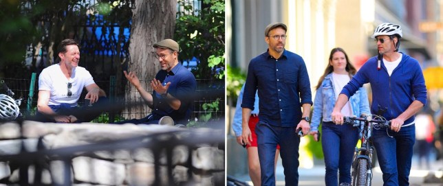 Ryan Reynolds and Hugh Jackman enjoy some quality lad time together