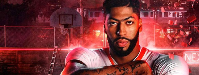 Anthony Davis, the cover athlete of NBA 2K20 (credit: 2K)