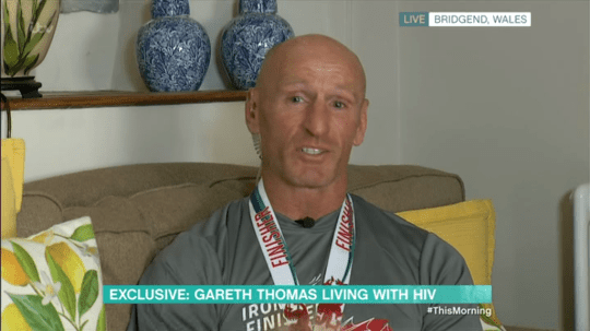 Gareth Thomas broke down in tears over his HIV diagnosis (Picture: ITV)