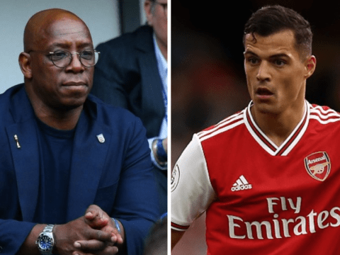 Ian Wright takes subtle swipe at Granit Xhaka after Arsenal's draw with Tottenham