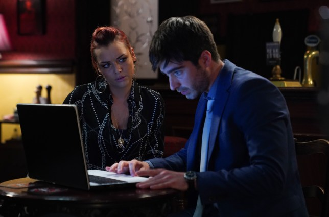 Shona McGarty as Whitney Dean and Tom Wells as Leo King in EastEnders