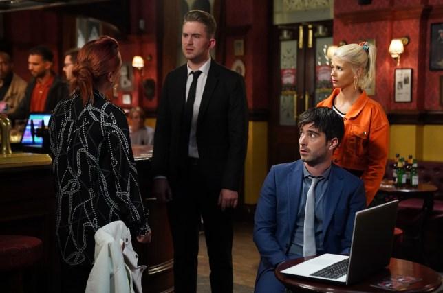 Callum, Whitney, Lola, Gray and Leo in EastEnders