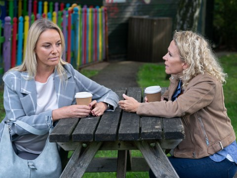EastEnders star Lucy Benjamin helped Tamzin Outhwaite through 'few tricky months' as Mel Owen exits the soap