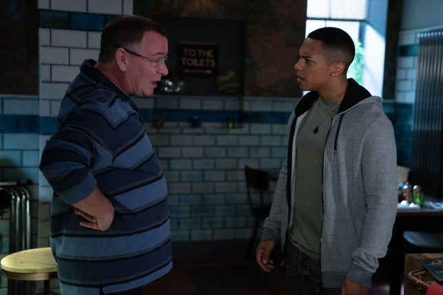 Keegan Baker and Ian Beale in EastEnders