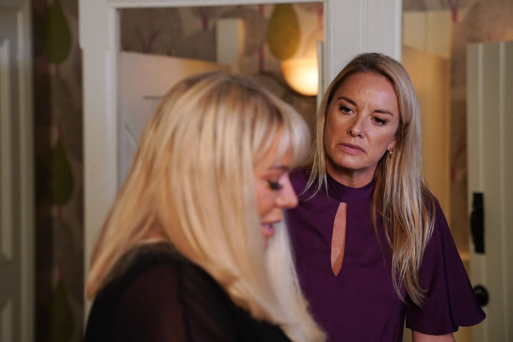 Mel Owen and Sharon Mitchell in EastEnders