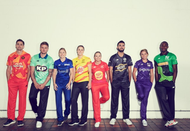 The eight teams for The Hundred have been unveiled