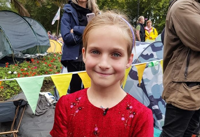 Young Extinction Rebellion activist Eve Tizard