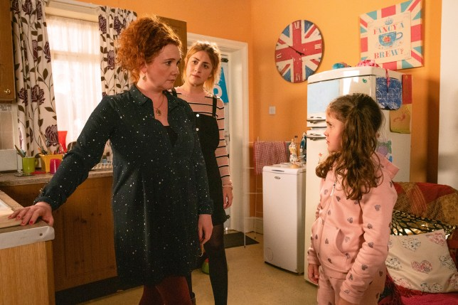 Fiz, Hope and Jade in Coronation Street