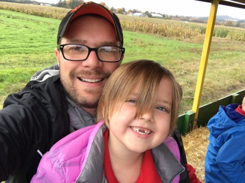Dad chaperoning five-year-old's school pumpkin patch trip has new-found respect for teachers