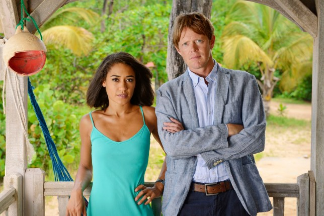 Television programme: Death in Paradise (L-R) Florence (JOSEPHINE JOBERT), Humphrey (KRIS MARSHALL) - (C) Red Planet Pictures - Photographer: Denis Guyenon