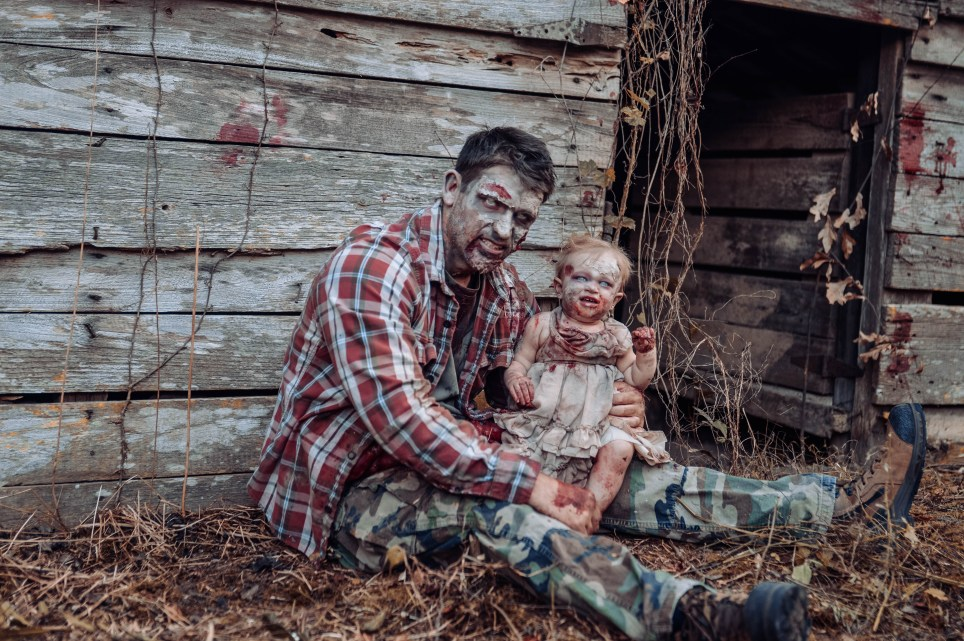 This Gory Daddy Daughter Photoshoot Just Won Halloween