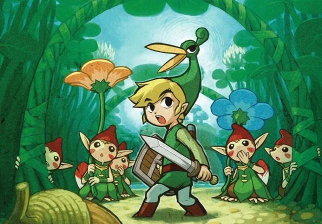 Zelda: The Minish Cap key art