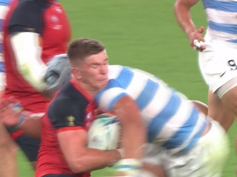 Argentina handed red card just 18 minutes into England clash after brutal Owen Farrell hit