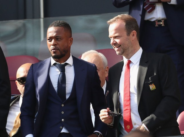 Patrice Evra is keen on a return to Manchester United