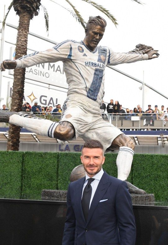 David Beckham statue at LA Galaxy