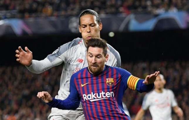 Lionel Messi has been impressed with Virgil van Dijk's performances for Liverpool