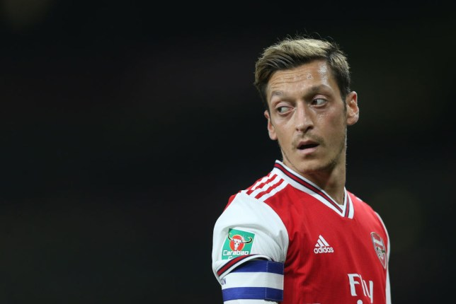 Mesut Ozil has been frozen out of Arsenal's first team squad by Unai Emery
