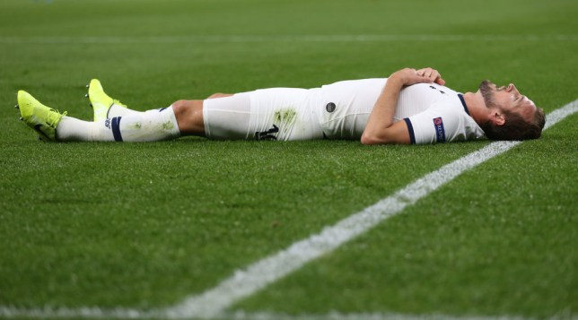 Harry Kane looks despondent after Tottenham's 7-2 thrashing against Bayern Munich