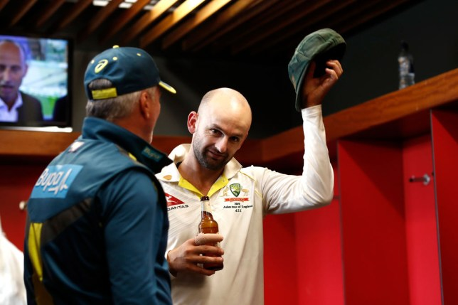 Nathan Lyon has mocked England's World Cup win after Australia retained the Ashes