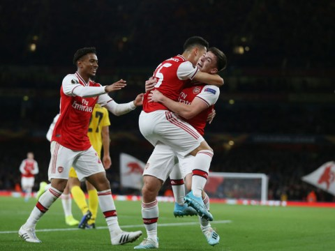 Gabriel Martinelli sets Arsenal record as Unai Emery's Gunners thump Standard Liege