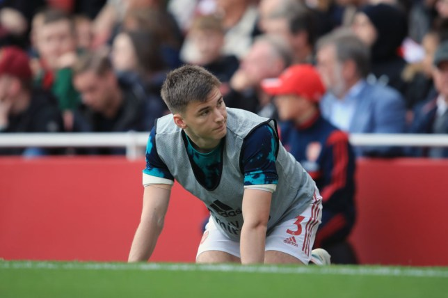 Kieran Tierney is still waiting to make his Premier League debut following his summer transfer from Celtic