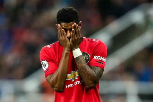 Marcus Rashford once again struggled as Manchester United's lead striker against Newcastle in the Premier League
