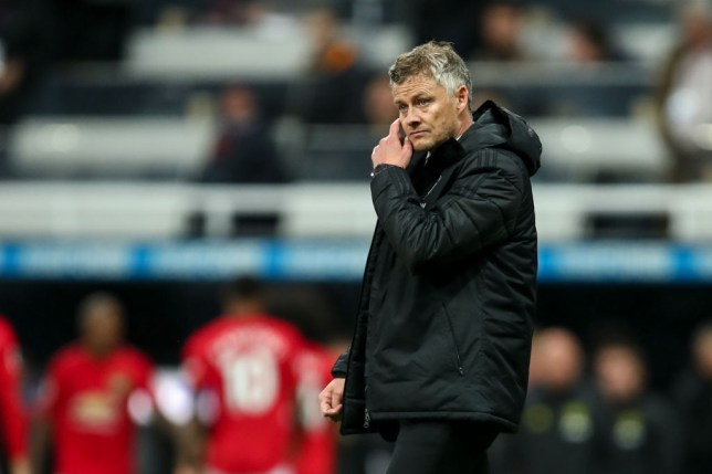 Ole Gunnar Solskjaer looks on concerned after Manchester United's defeat to Newcastle