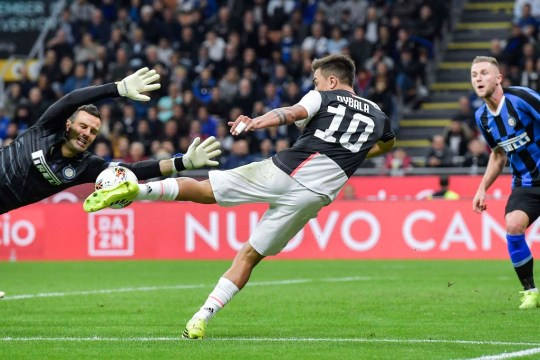 MILAN, ITALY - OCTOBER 06: Paulo Dybala of Juventus in action during the Serie A match between FC Internazionale and Juventus at Stadio Giuseppe Meazza on October 6, 2019 in Milan, Italy. (Photo by Daniele Badolato - Juventus FC/Juventus FC via Getty Images)