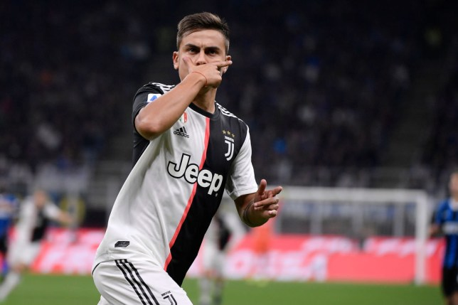 STADIO GIUSEPPE MEAZZA, MILANO, ITALY - 2019/10/06: Paulo Dybala of Juventus FC celebrate after scoring a goal during the Serie A match between Fc Internazionale and Juventus Fc. Juventus Fc wins 2-1 over Fc Internazionale. (Photo by Marco Canoniero/LightRocket via Getty Images)