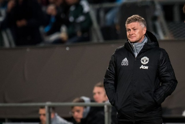 coach Ole Gunnar Solskjaer of Manchester United during the UEFA Europa League group L match between AZ Alkmaar and Manchester United at Cars Jeans stadium on October 03, 2019 in The Hague, The Netherlands(Photo by ANP Sport via Getty Images)