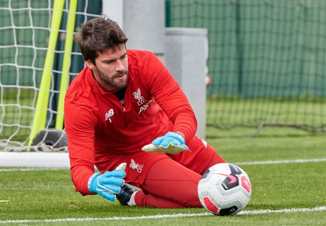Alisson has returned to full fitness in time for Liverpool's Premier League clash with Manchester United